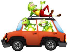 Frosch auf dem Auto vektor
