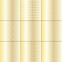 goldweißes mod bargello geometrische muster