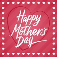 Lycklig mors dag hälsningskort mall vektor