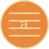 Kleinbuchstaben-Vektor-Symbol vektor