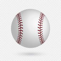 Realistischer Baseball-Vektor