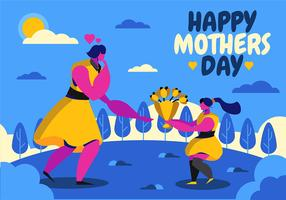 Glad mors dag vektor
