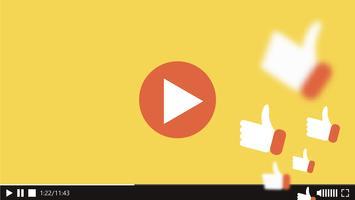 Tjänster gratis får fler liknande och synpunkter på din video. Vektor platt illustration