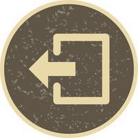 Logout-Vektor-Symbol