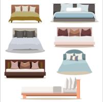 Modern design möbler dubbelsäng samling set vektor