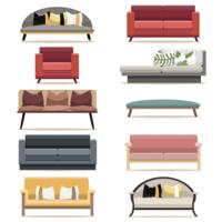 Modernt design soffmöbler av vardagsrummet
