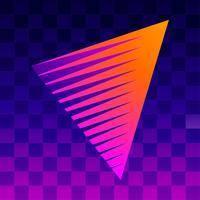 Retro Hintergrund Vorlage Checkered Flag vektor