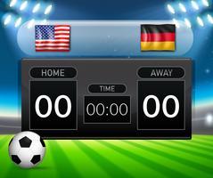 USA vs Deutschland Anzeigetafel