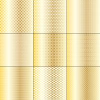metalliska guld och vita mod geometriska mönster vektor