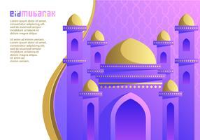 Purpurroter Moschee Ied Mubarak-Vektor vektor
