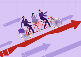 Arbeits-Vektor-Illustration des Mitarbeiter-Personals zusammenarbeitend