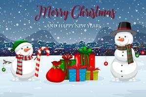 God jul vintermall vektor