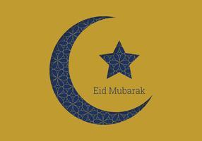 Eid Mubarak Mond Design vektor