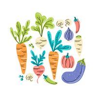 Vektor grönsaker illustration
