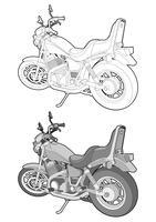 Motorrad-Fahrradvektordesign-Illustrationsschablone