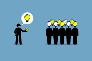 Crowdsourcing eller publik sourcing. vektor