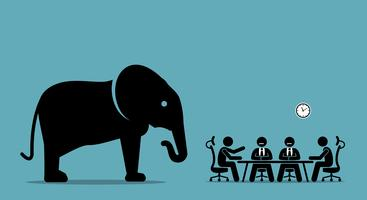 Elefant im Raum. vektor