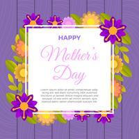 Platt söt lycklig mors dag vektor illustration