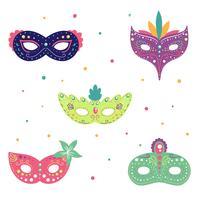 Söt Prydnad Carnival Mask Set Collection