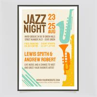 Vektor Jazz Night Retro Poster