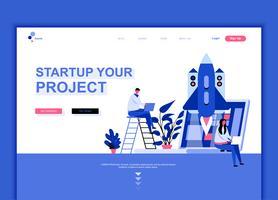 Modern platt webbdesign mall koncept att starta ditt projekt