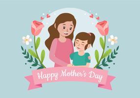 Glad mors dag illustration
