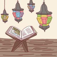 Al Quran och arabiska lampor