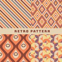 Retro Muster-Vektor-Pack vektor