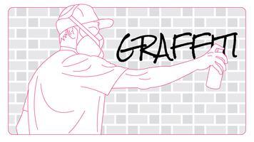 Netter Graffiti-Vektor vektor