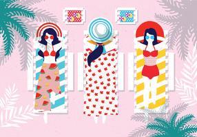 Människor Njut av Summer Vacation Vector