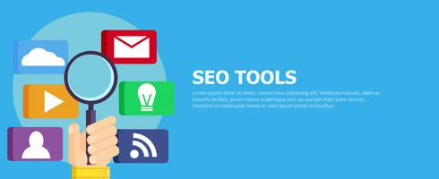 Sökmotoroptimering (SEO) Digital Marketing Icons vektor