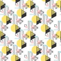Lineares geometrisches Retro Muster vektor
