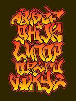 Gullig Graffiti Vector