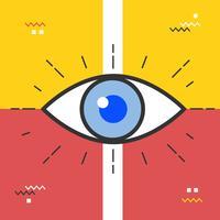 Abstrakter Augenvektor vektor