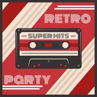 Retro Party Poster Vektor