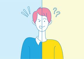 Bipolare Störung vektor