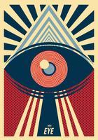 Augen-Plakat-Vektor-Design vektor