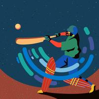 batsman cricket spelare vektor