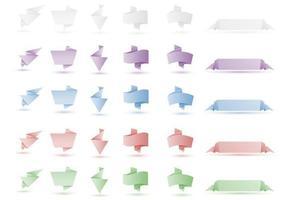 Origami Banner Vektor Pack Zwei