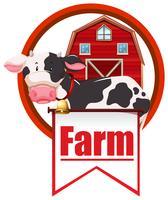 Kuh und Bauernhof vektor