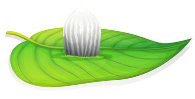 Monarkfjäril - Danaus plexippus - äggstadiet vektor