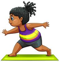 En tjej gör yoga
