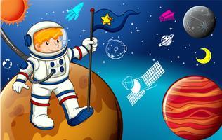 Mensch und Raum vektor