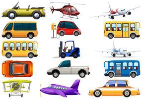 Set von Transportfahrzeug