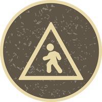 Vektor-Fußgängerüberweg-Symbol vektor