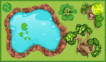 Kleiner Teich im Park vektor
