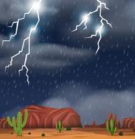 Nachtisch während der Sturmszene vektor