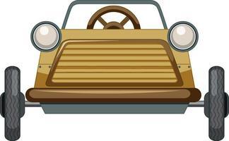 Oldtimer-Miniauto-Spielzeug auf weißem Hintergrund vektor