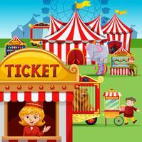 Biljettkiosk på karnevalen vektor