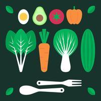 Nahrungsmittel mit Nutzen-Illustrationen der Gesundheit Nahrung